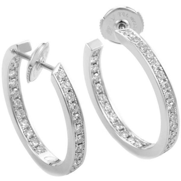 Cartier Diamond Gold Hoop Earrings 8 200 Liked On Polyvore Featuring