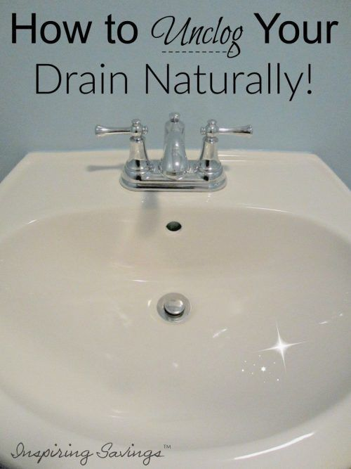 Unclogging A Sink Drain With Baking Soda