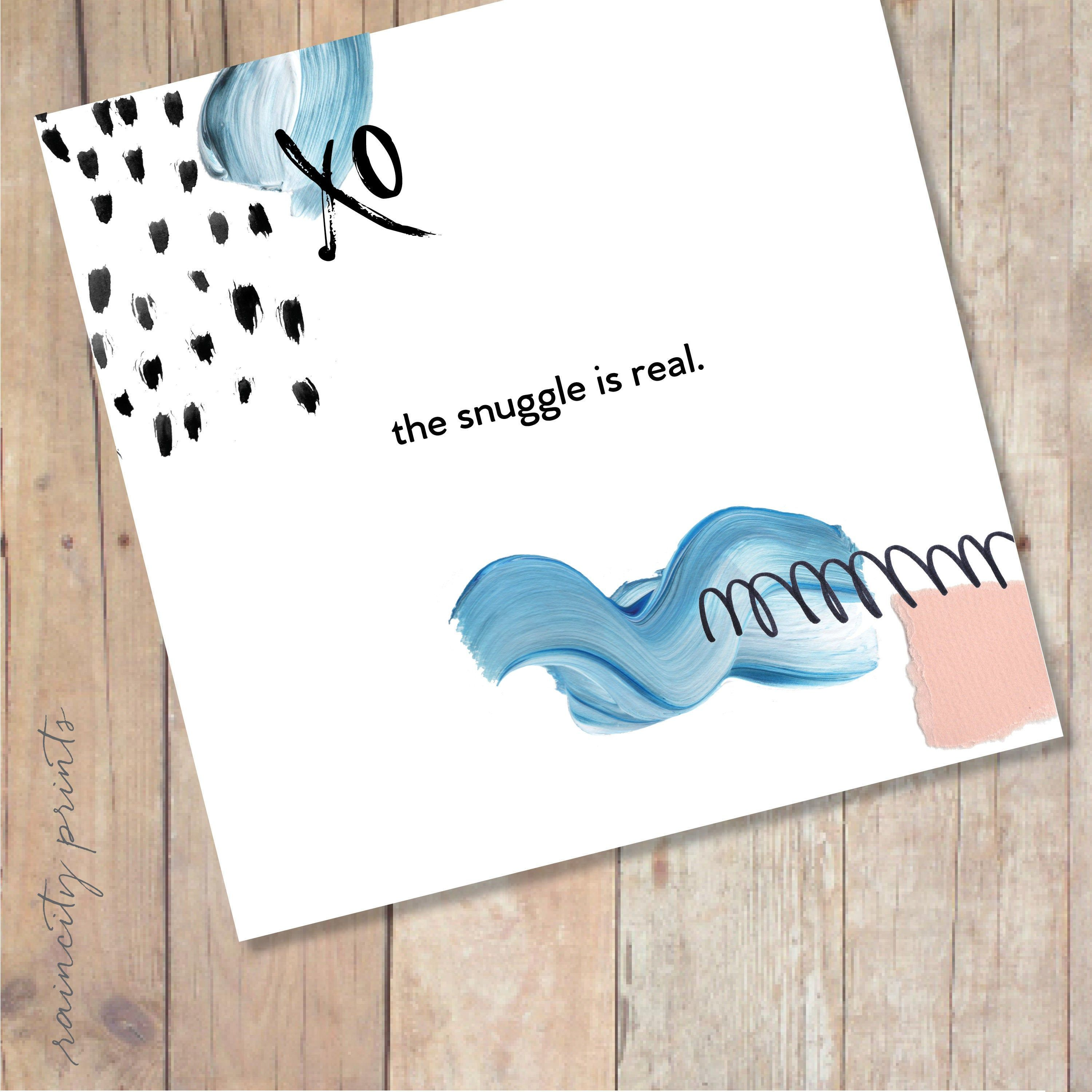 The Snuggle is Real Greeting Card. Modern Love Card. Funny Anniversary Card.  Funny Valentines Day Card. Modern Musings collage greeting card   Funny anniversary  cards, Love cards, Anniversary cards