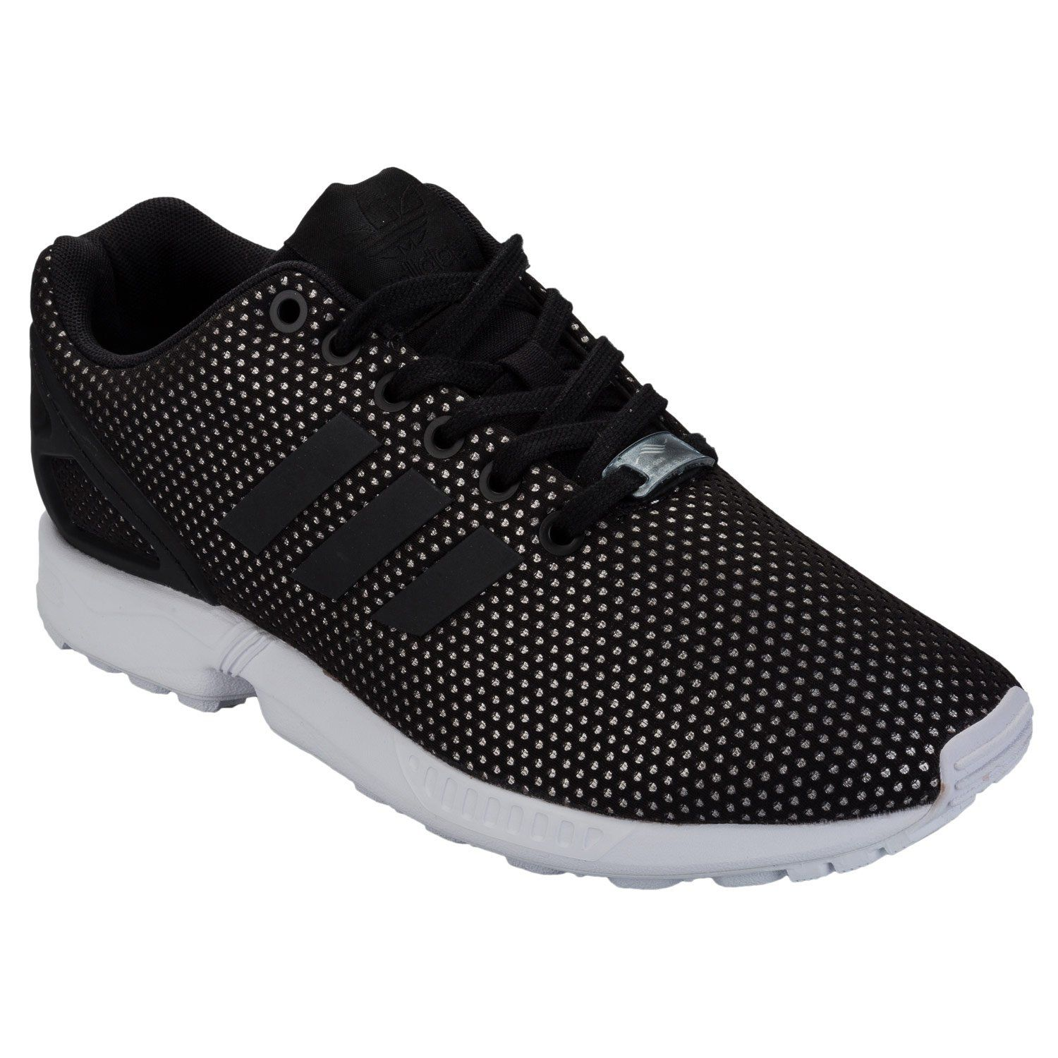 new product 7ba90 403a9 adidas Originals Womens ZX Flux Trainers Core US6.5 Black  Check out