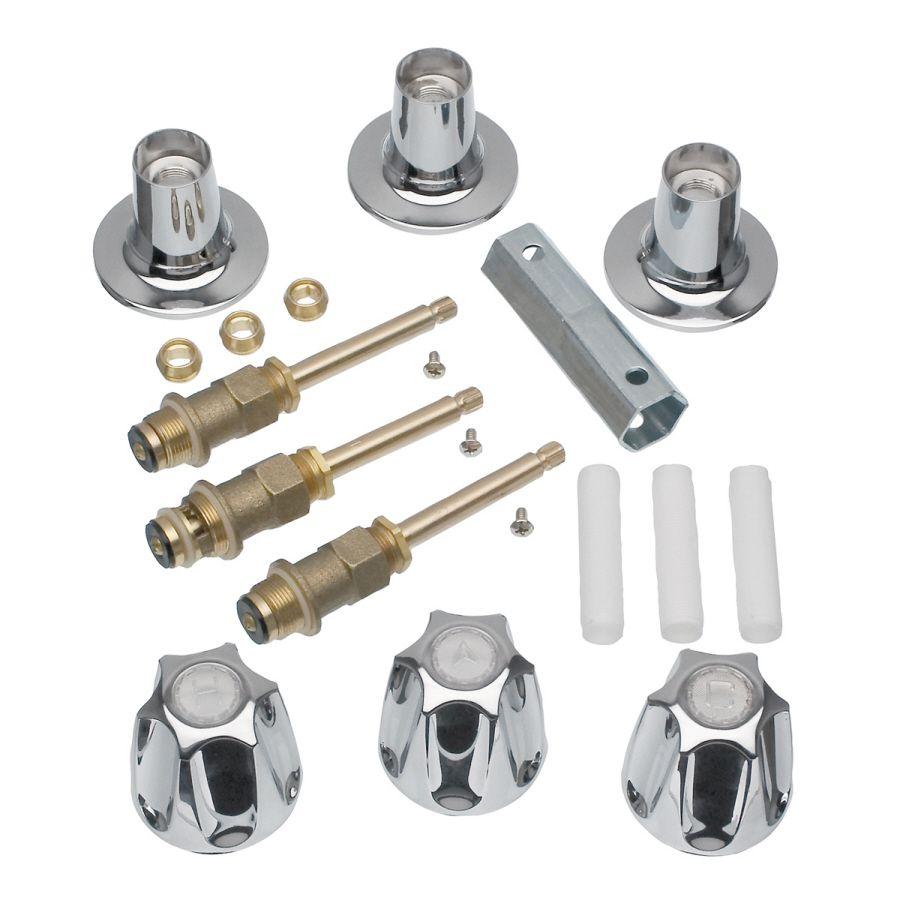 Danco 3 Handle Metal Tub Shower Repair Kit For Price Pfister 39619