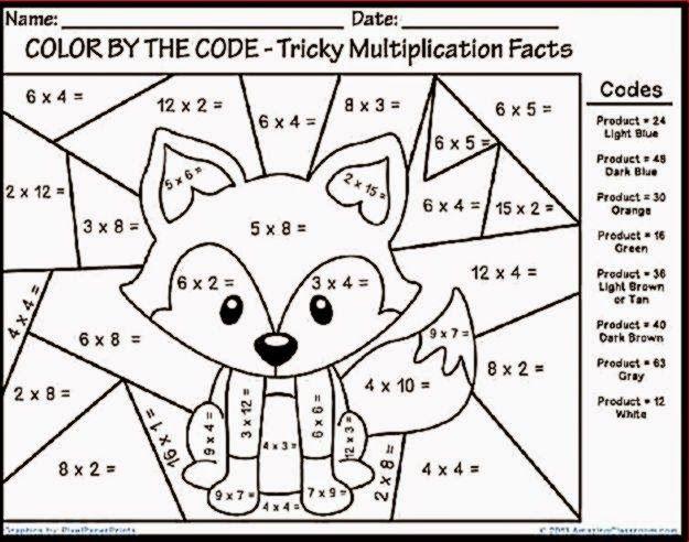 Multiplication Color Sheet Math Coloring Worksheets Fun Math Worksheets Christmas Math Worksheets