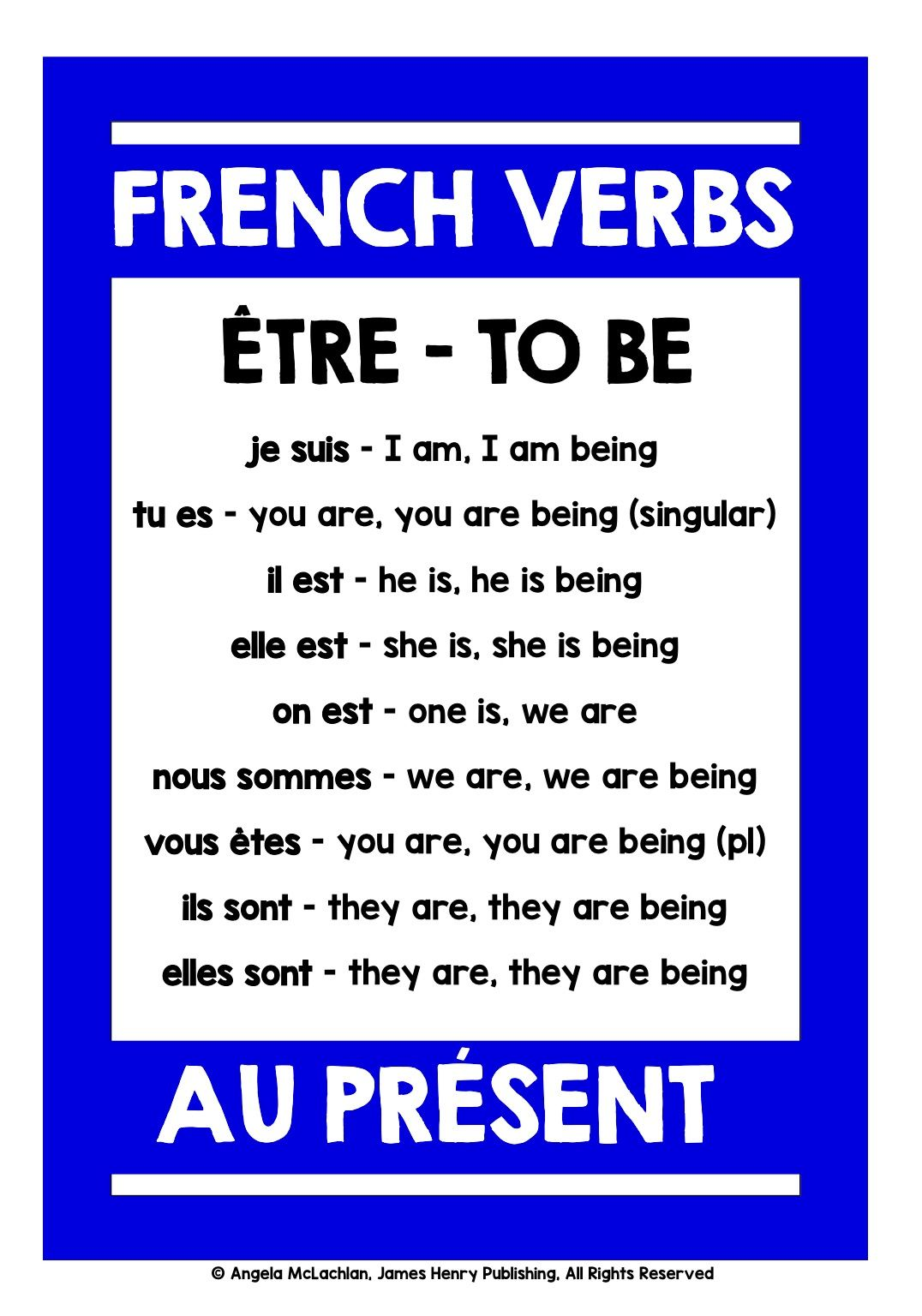 frenchverbs frenchverbconjugation My students love to