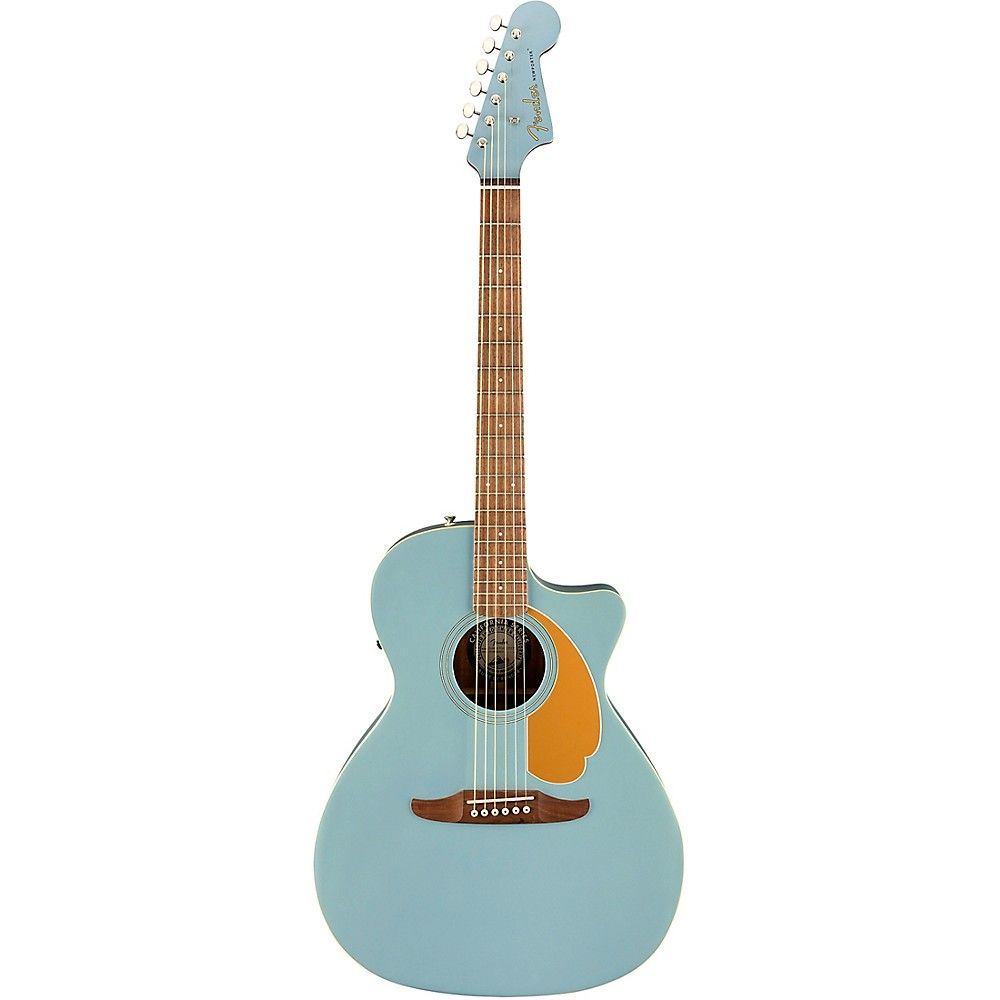 Fender California Newporter Player Acoustic Electric Guitar Blue Acoustic Guitar Acoustic Electric Guitar Fender Acoustic Guitar