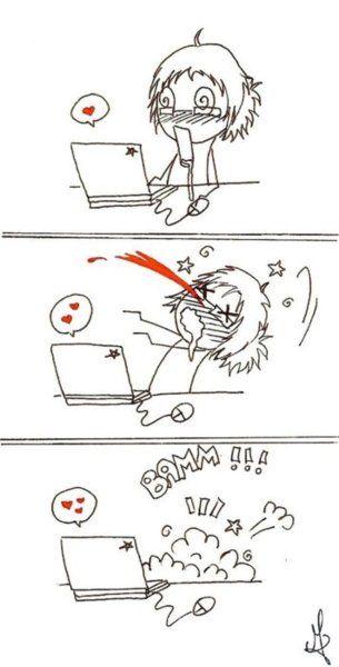 Resultado de imagen de sangrado nasal anime