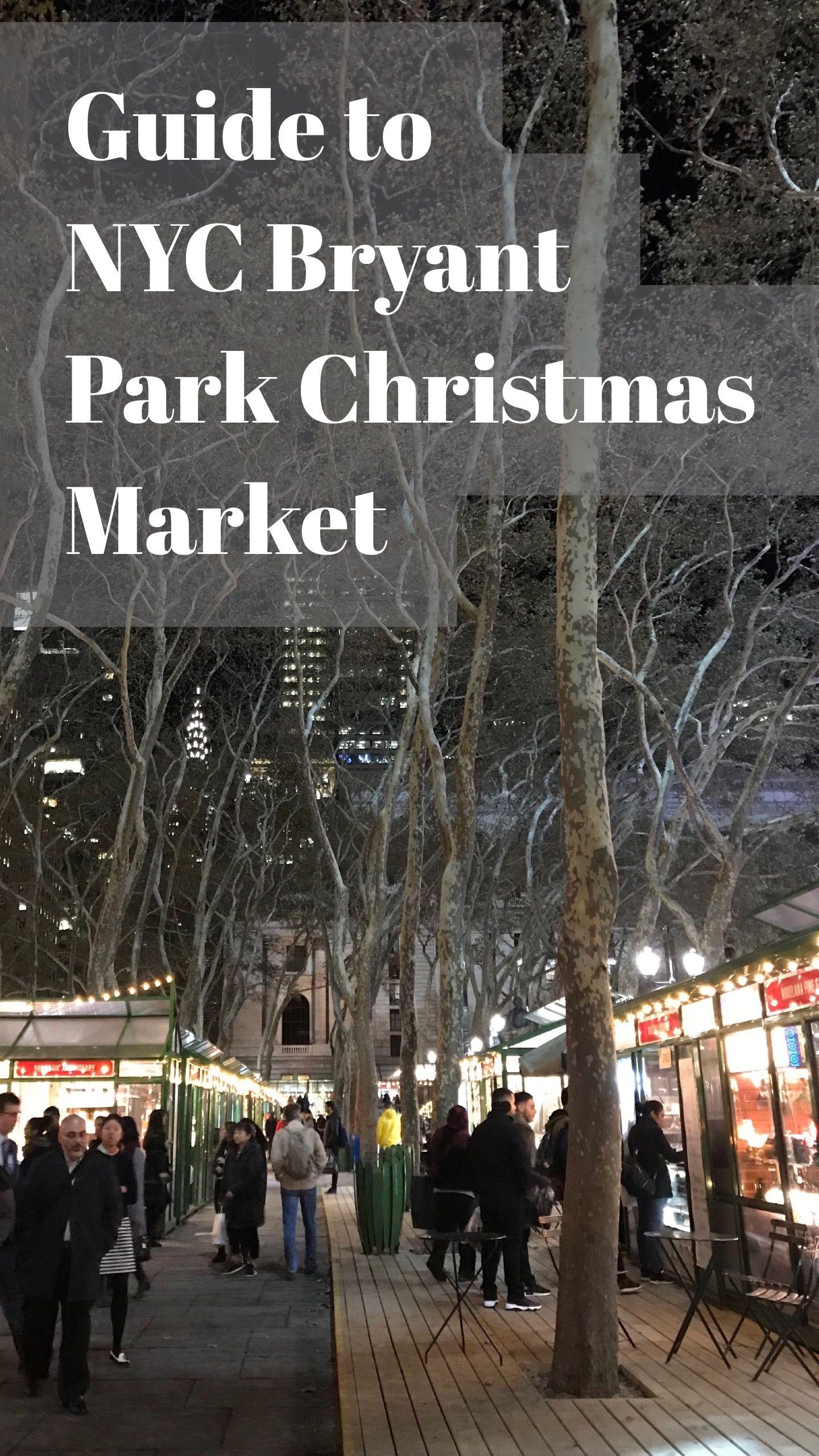 Bryant Park Christmas.Bryant Park Christmas Market Nyc Winter Wonderland World