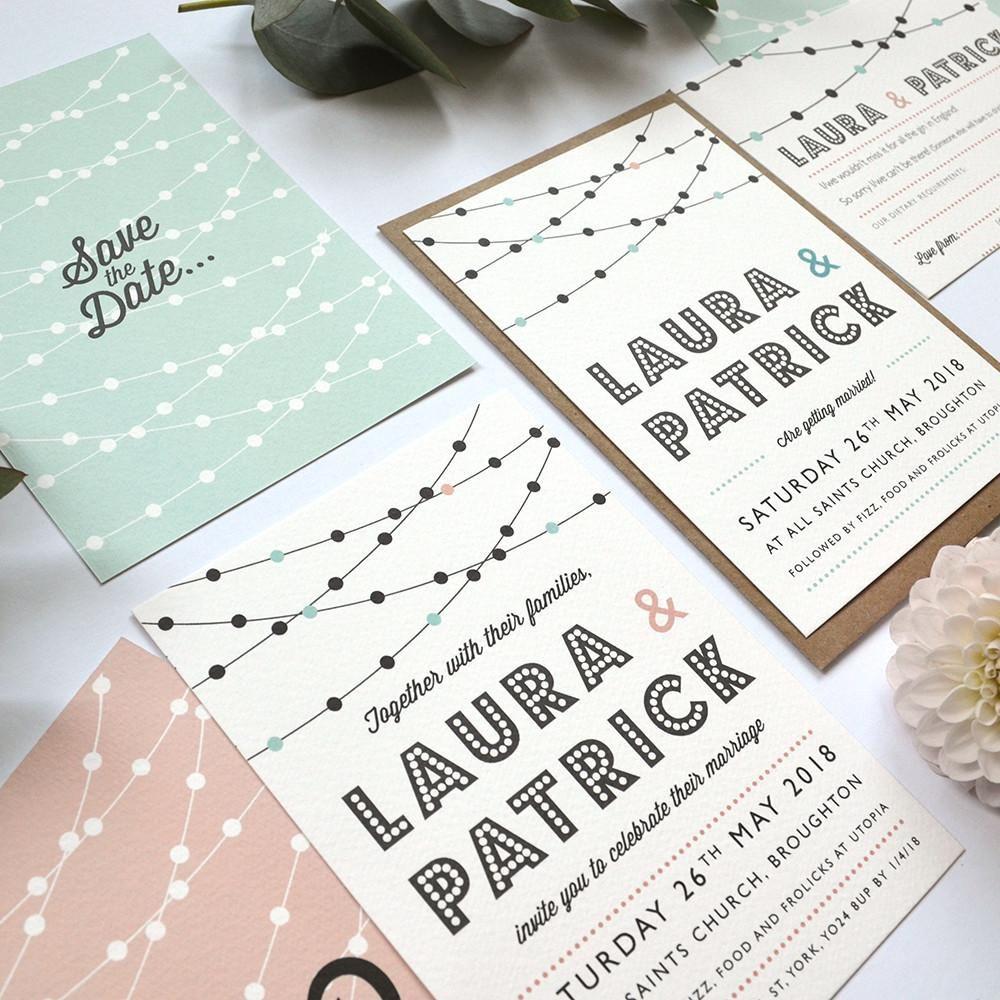 Modern Wedding Invitation   Festoon Personalised wedding stationery ...