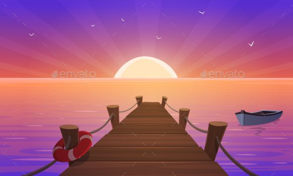 Images of cartoon sunsets