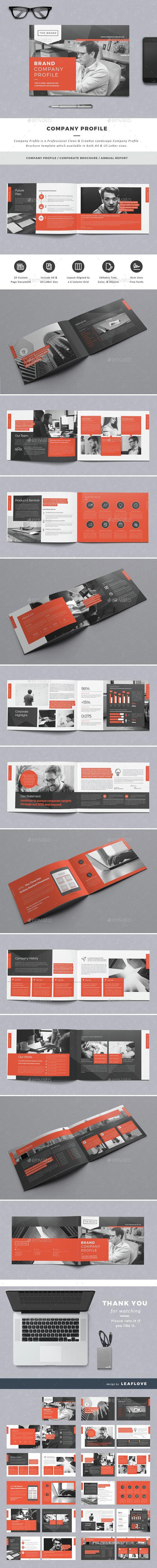 Company Profile   Diseño editorial, Editorial y Folletos