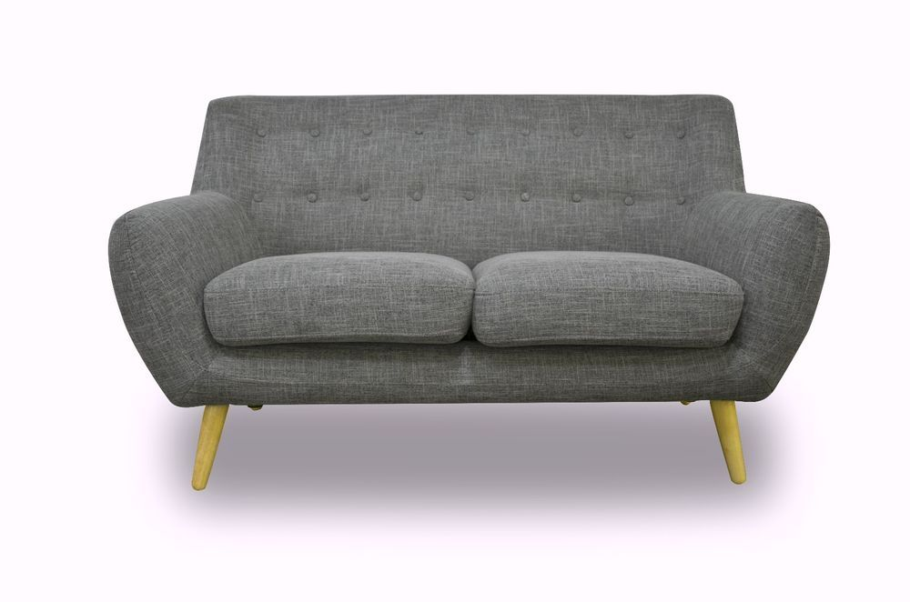New 2 Seater Sofa Retro Scandinavian Compact Design Grey Uk Stock Free Delivery Home Furniture Diy Furniture Sofas Retro Sofa 2 Seater Sofa Home Decor