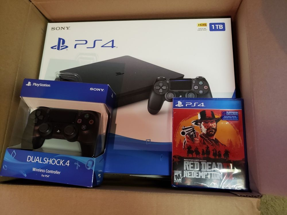 Sony Playstation 4 1tb Slim Bundle With Red Dead Redemption 2 Extra Controller Ps4 Gaming Video Playstation 4 Sony Playstation Sony