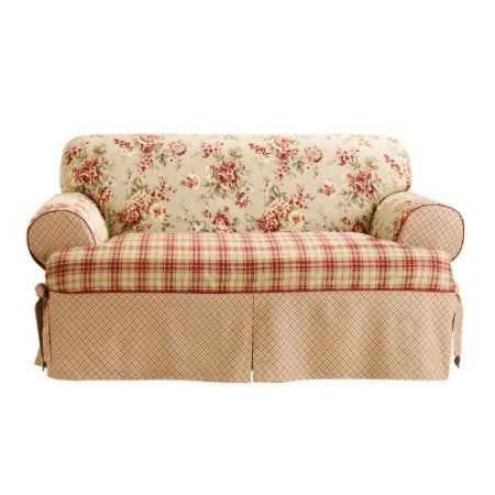 Amazon Com Sure Fit Lexington 1 Piece T Kick Pleat Skirt Sofa