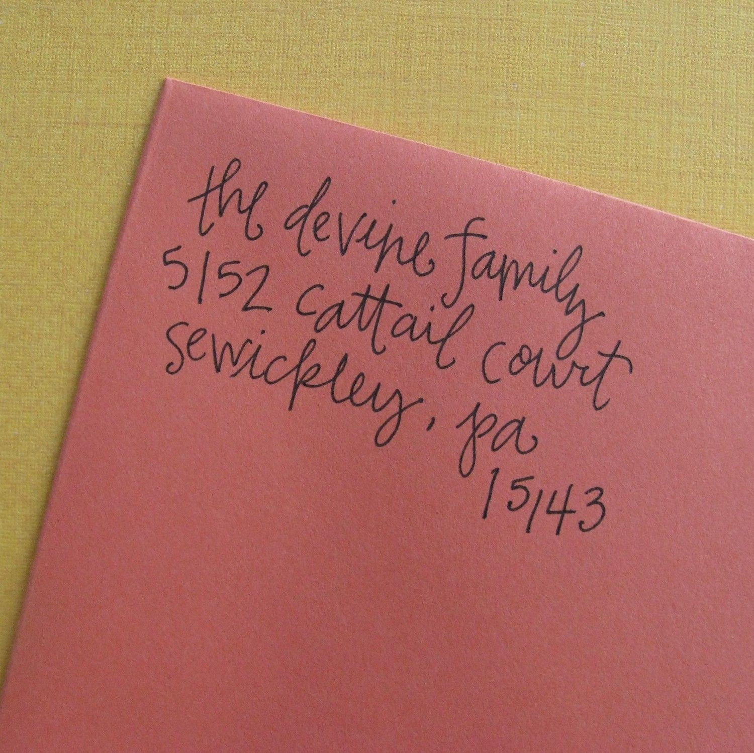 cute printing...also, an address stamp | Invitations/Paper ...