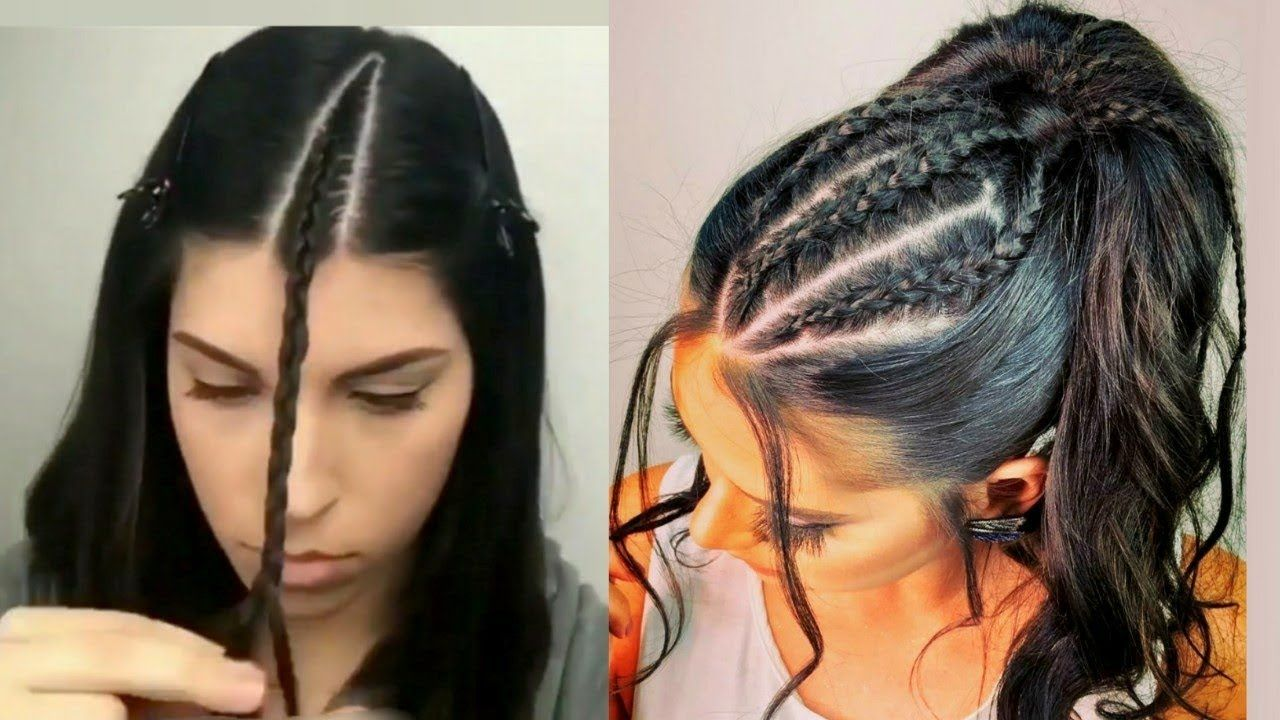 Peinados Faciles 2018 Peinados Con Trenzas Peinados De Fiesta Cabello Casual Braided Hairstyles Creative Hairstyles Hair Styles