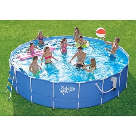 Summer Waves 18 X 48 Round Metal Framed Above Ground Swimming Pool