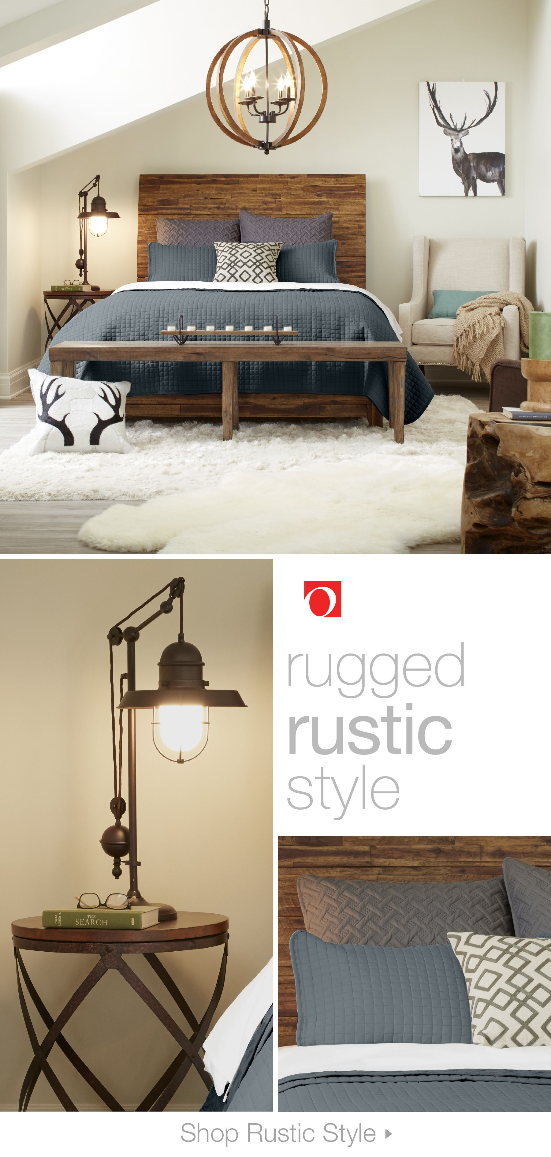 Give the inside of your home some inspiration from the outside with Rustic furniture and decor from Overstock. Rugged wood furniture, natural textiles, and worn leather upholsteries give Rustic-style interiors the feel of a cozy, mountainside cabin. #rusticdecor #rusticfurniture