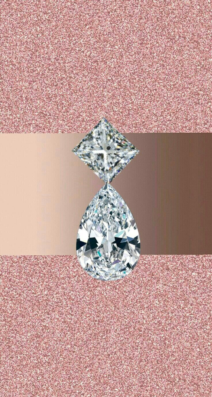 Rose Gold And Silver Sparkly Diamond Glitter Wallpaper Rose