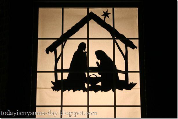 Window Nativity Silhouette