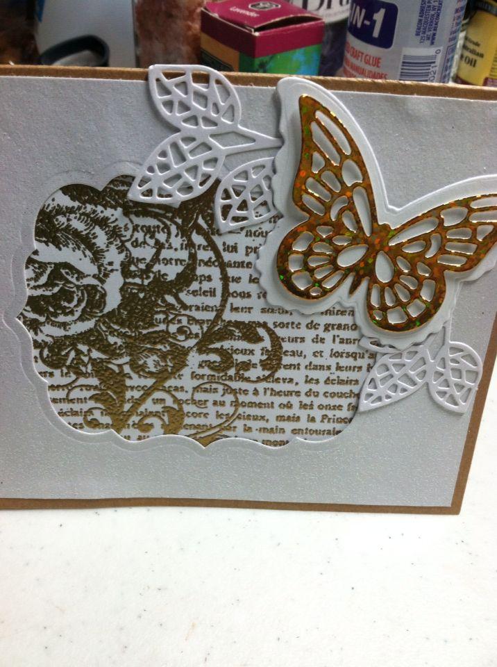 Butterfly/flower card