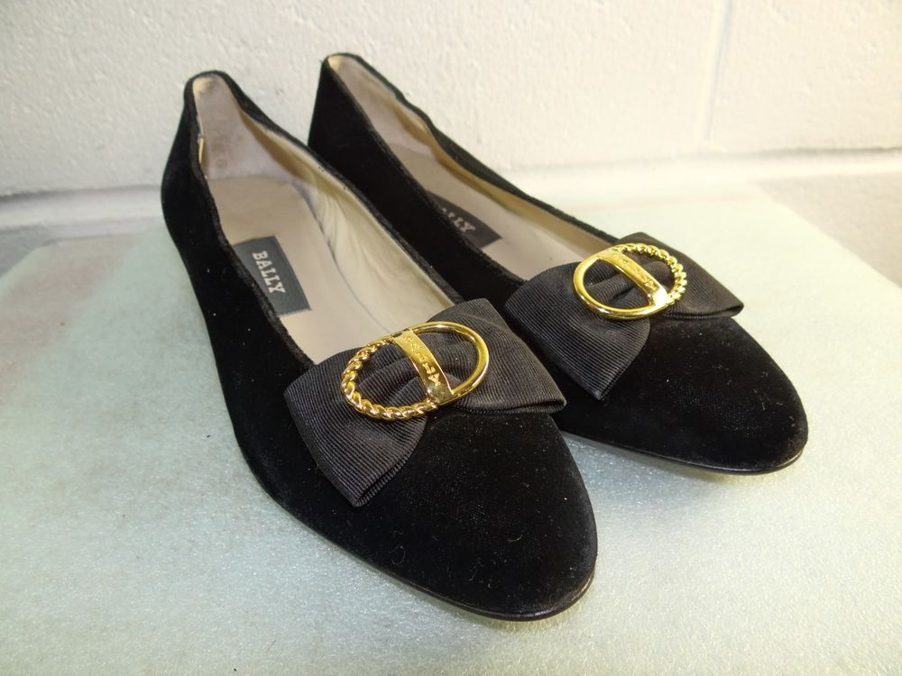 BALLY Black Velvet Fabric Gold Hardware Pump Women Size 5.5M Made in ITALY   fashion  clothing  shoes  accessories  womensshoes  heels (ebay link) 7f2e94a357