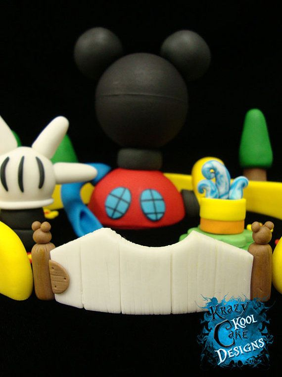 Mikey Mouse Clubhouse Cake Topper Set | Mickey mouse ...