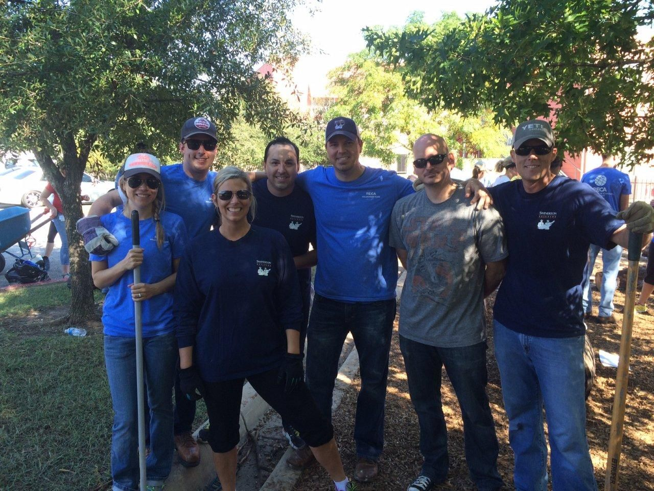 SafePlace was selected as the beneficiary of the Real Estate Council of Austin's 23rd Annual Christmas in October Event! #Swinerton's Austin team spent their weekend helping build and renovate outdoor spaces at the facility. #CommunityContractor