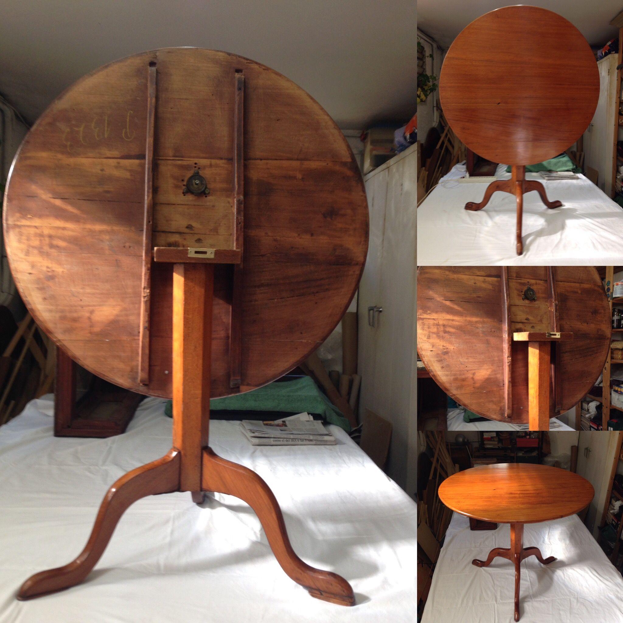 Conservaci N Y Restauraci N De Una Mesa De Caoba Top Table  # Muebles Caoba Sevilla