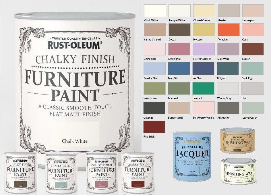 Rust Oleum Chalk Chalky Furniture Paint 750ml 125ml Chic Shabby Vintage Paints Ebay Rustoleum Chalk Paint Colours Rustoleum Chalk Paint Chalk Paint Colors