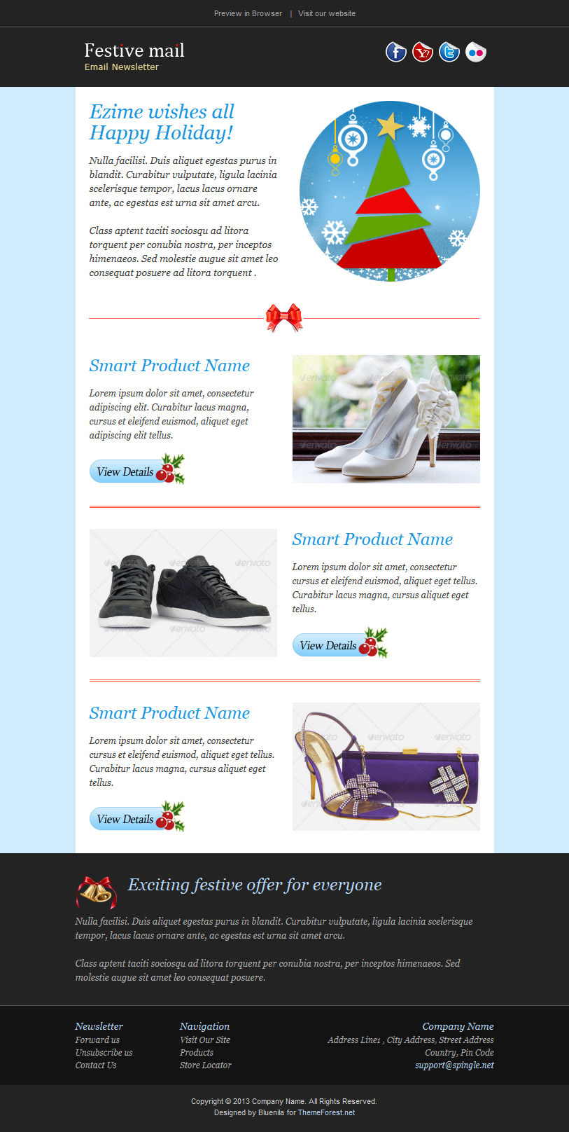 Awesome Email Template To Greet Your Friends In This Festive
