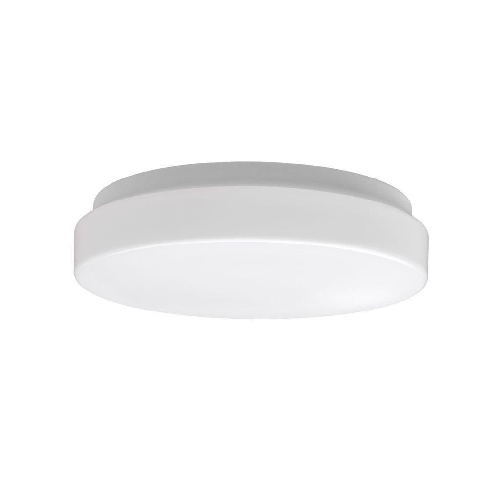 Commercial Electric Low Profile 7 In White Round 4000k Bright White Led Flush Mount Ceiling Light Fixture 810 Lumens Modern Smooth Cover 54663141 The Home De Led Flush Mount Flush Mount