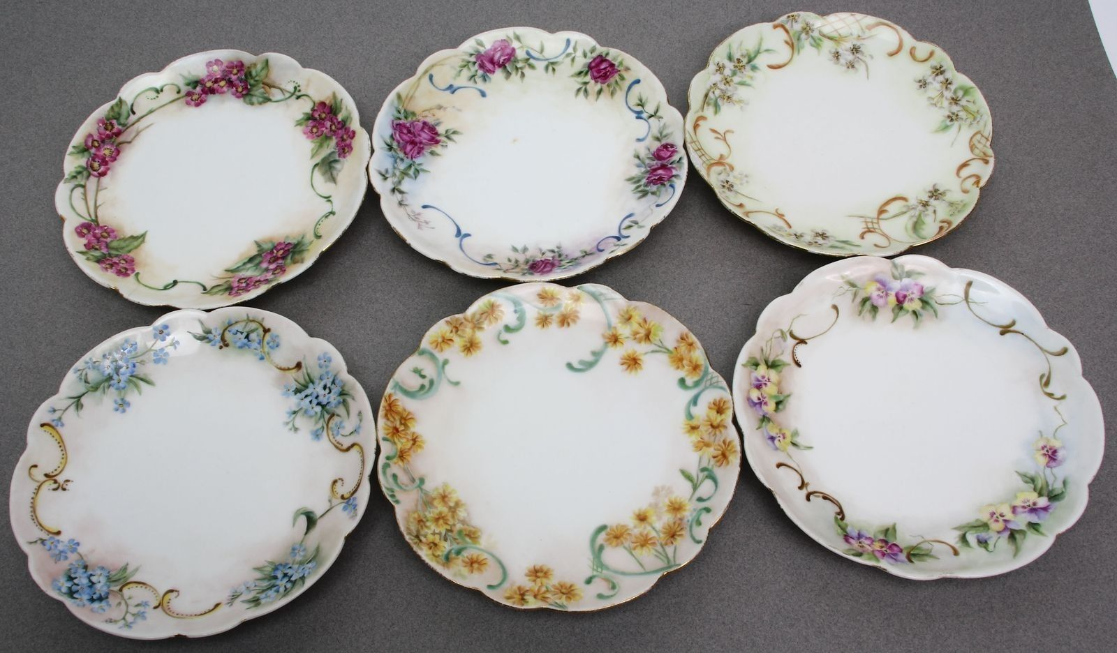 Lot of 6 Small Decorative Plates Elite France Limoges Signed M A Howard | eBay & Lot of 6 Small Decorative Plates Elite France Limoges Signed M A ...