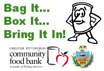 Support the Greater Pittsburgh Community Food Bank's Holiday Food Drive. Donate food or money, download a shopping list & find local donation centers at http://j.mp/FoodDriveInfo. Or, bring food to the County Office Bldg. (http://goo.gl/maps/qIu3p), One Smithfield St. (http://goo.gl/maps/ngmbo) or the four Kane Regional Centers (http://j.mp/KaneCtrs).