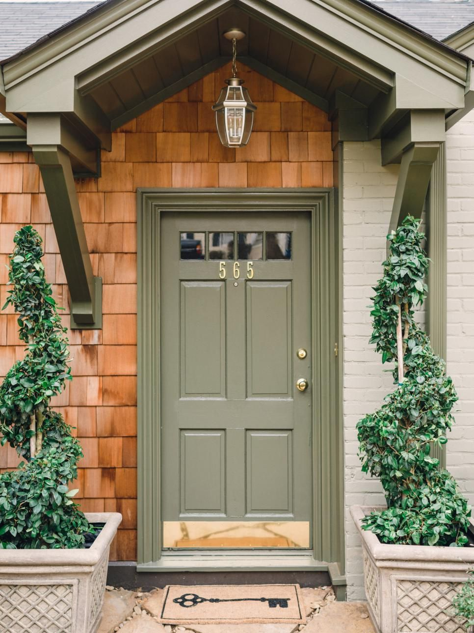 Wooden Fence Designs Hgtv Green Front Doors House Front Door Painted Front Doors