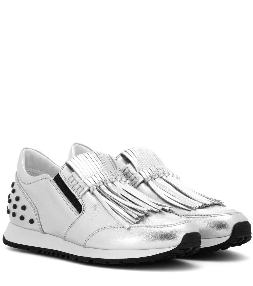 Metallic leather sneakers Tod's vZG4y