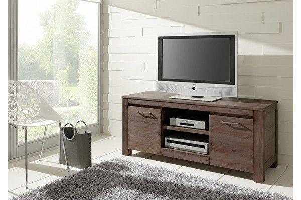 wolf m bel ventura lowboard 2 holzt ren 1 ablage akazie coffee 9721755 zilly garderobe. Black Bedroom Furniture Sets. Home Design Ideas