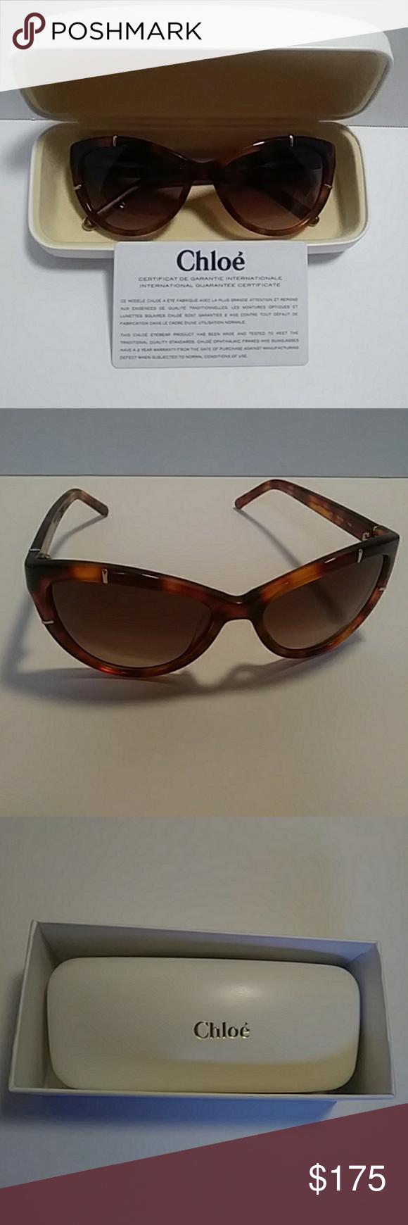 CHLOE Cat Eye Sunglasses Light Havana Cat eye sunglasses