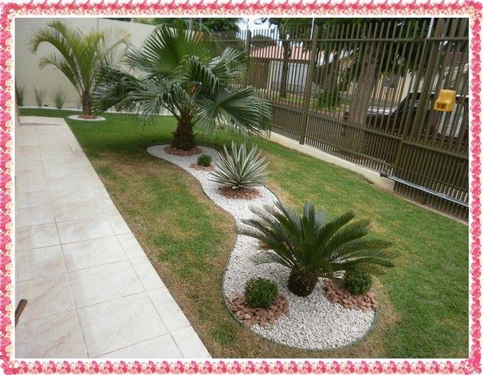 paisagismo jardim com pedras Pesquisa Google decoraç u00e3o Coqueiros para jardim, Jardins  -> Decoração De Jardins Com Pedras E Flores