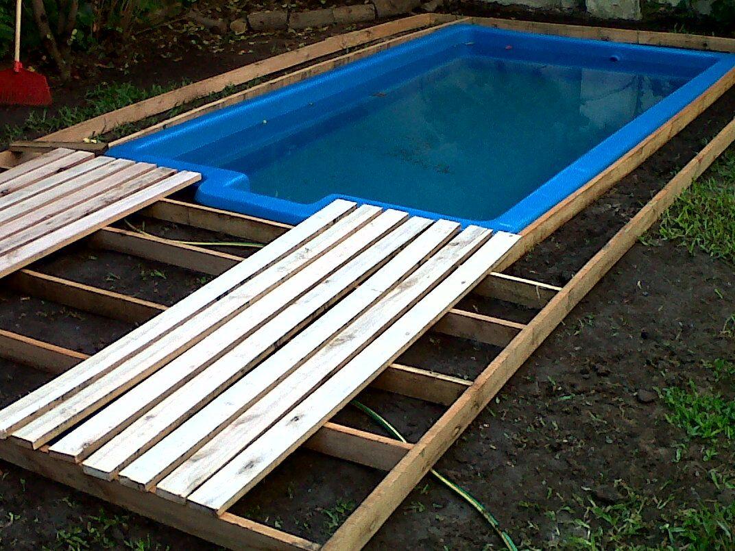 Paso 1 Construcci 243 N De Deck Con Peque 241 A Pscina Renueva