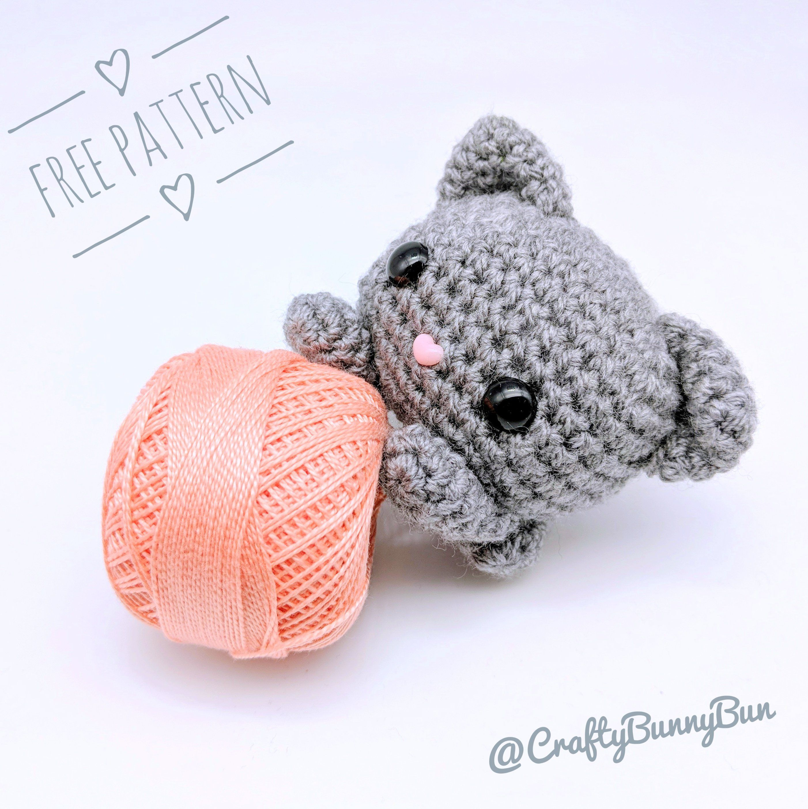 Super easy and fun free amigurumi pattern to make. It's so easy that you won't stop at one kitty. Designed to be as simple as possible without compromising on the cuteness.
