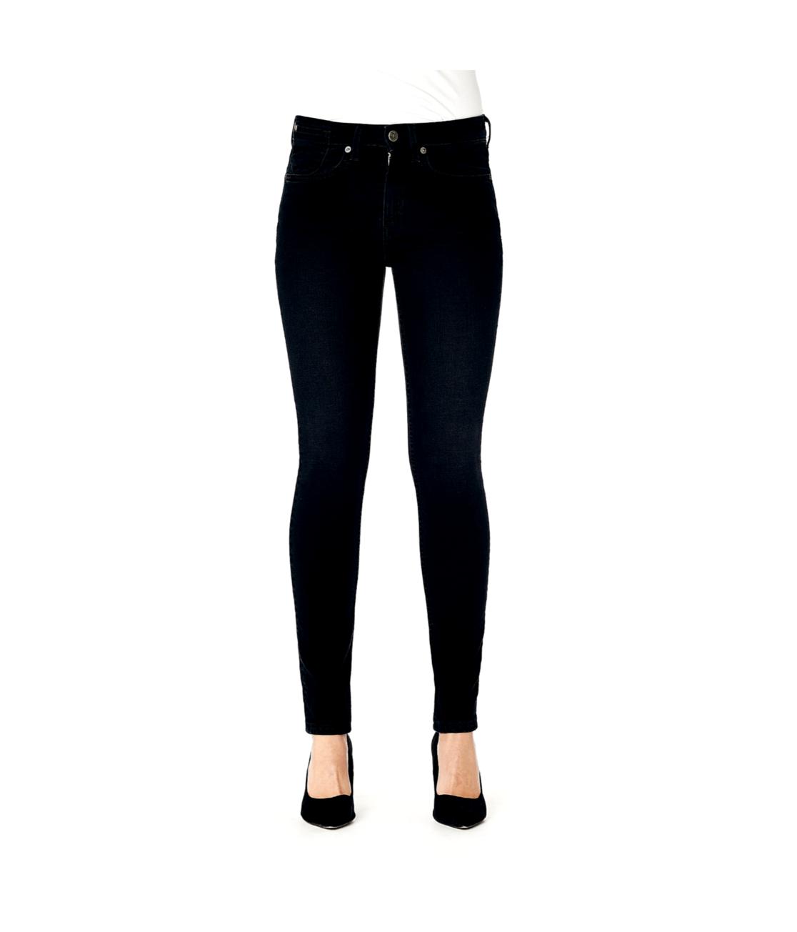 Kuyichi Sorte højtaljede, superskinny jeans lavet af 69% økologisk bomuld, 29% genbrugsbomuld og 2% elastan.