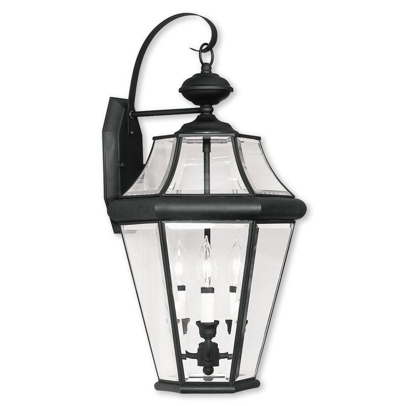 Darby Home Co Violetta 3 Light Outdoor Wall Lantern Wayfair Outdoor Wall Lighting Outdoor Wall Lantern Black Outdoor Wall Lights