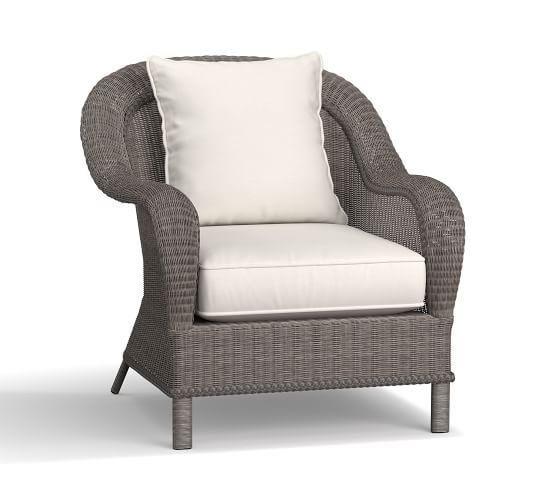 Palmetto All Weather Wicker Occasional Chair Gray Grey