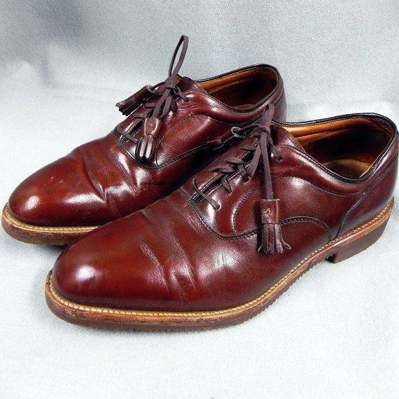 1980s Vintage Mens Shoes Brown Leather Tassel Oxfords Dress Shoes Men Men S Shoes Vintage Shoes