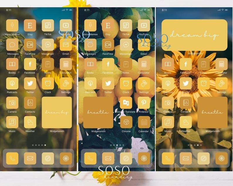 Yellow Sunflowers Lemon Aesthetic 238 Iphone Ios 14 App Icons Ios14 Widget Photos Widgetsmith Shortcuts Ios 14 Summer App Icon Pack App Icon Ipad Ios Iphone Wallpaper App