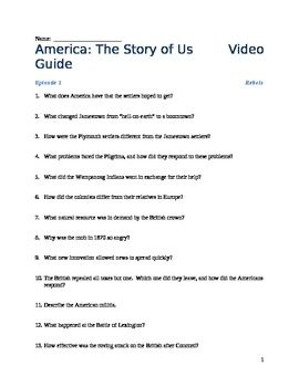 America the Story of Us Video Viewing Guides (Complete ...