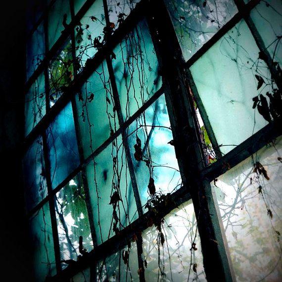 Dreamy Blue Window Print