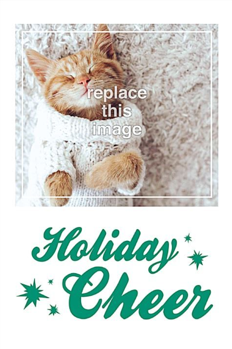 Holiday Cheer Free Invitation Card Template  Off Ends