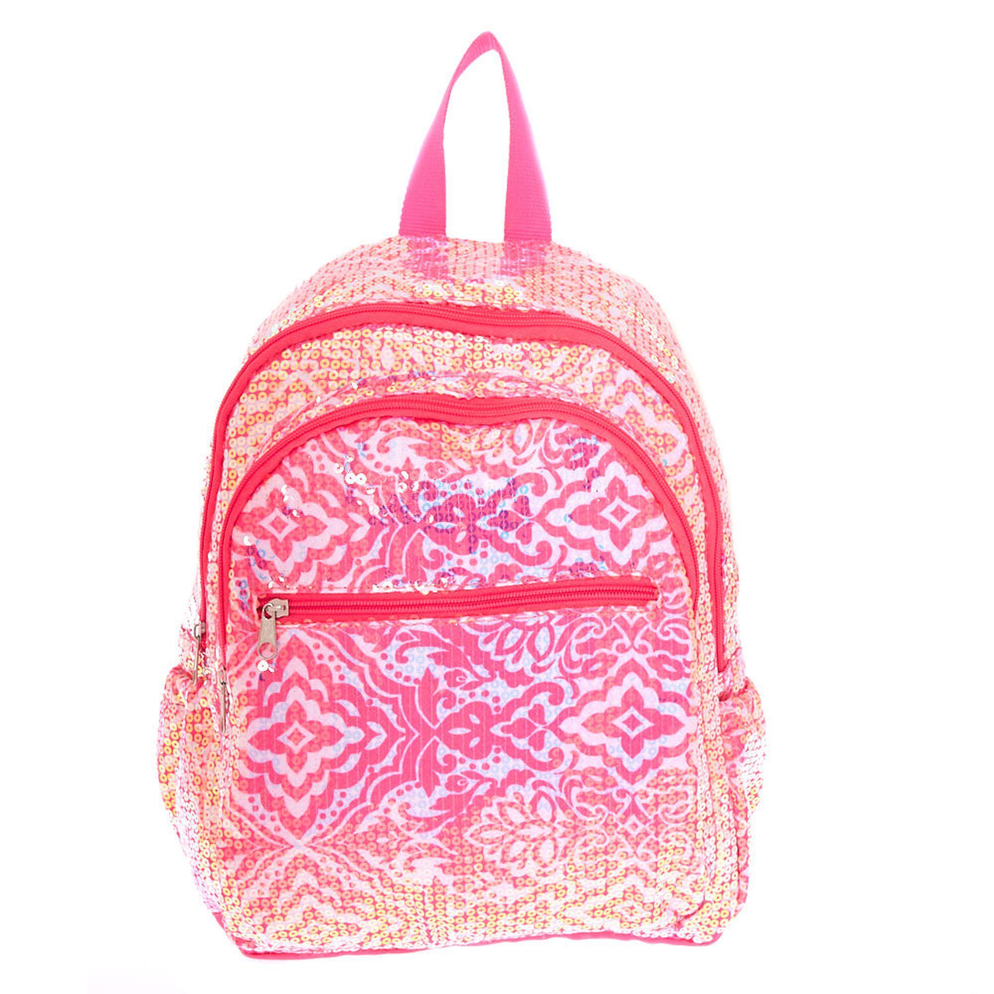 9ccb8add5113ef Funky Sequin Backpack - Pink | Back 2 School | Sequin backpack ...