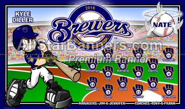 Brewers Baseball Banner Idea From Allstarbanners Com We Do Soccer Banners Baseball Banners Softball Bann Baseball Banner Soccer Banner Baseball Banner Design