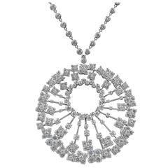 "Van Cleef & Arpels Diamond Gold ""Charleston"" Pendant Necklace"